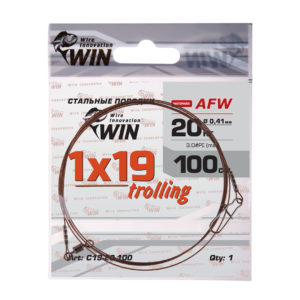 Поводок WIN 1×19 Trolling (AFW) 20кг 100см (1шт)