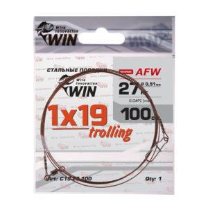 Поводок WIN 1×19 Trolling (AFW) 27кг 100см (1шт)