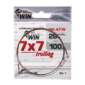 Поводок WIN 7×7 Trolling (AFW) 28кг 100см (1шт)
